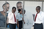 GABORONE, BOTSWANA - SEPTEMBER 22: Unidentified businessmen talk on their mobile phones on September 22, 2009 in central Gaborone, Botswana. Debswana, a 50/50 partnership between the De Beers Company and the government of Botswana has brought lots of revenues to Botswana, including an impressive infrastructure such as roads and free education up to university. (Photo by Per-Anders Pettersson)...