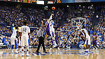 The tip off of the men's basketball game vs. LSU at Rupp Arena, in Lexington, Ky., on Saturday, January 26, 2013. Photo by Genevieve Adams  | Staff.