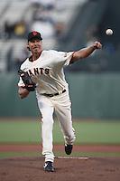 SAN FRANCISCO - MAY 11:  Randy Johnson of the San Francisco Giants pitches during the game against the Washington Nationals at AT&T Park in San Francisco, California on Monday, May 11, 2009. Photo by Brad Mangin
