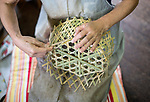 Iwao Yoshie weaves baskets at Iwao Chikuran's workshop in Beppu City, Oita Prefecture, Japan on Sept. 20. 2016.  ROB GILHOOLY PHOTO
