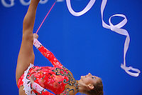 Julia Romanjuk of Finland performs with ribbon at 2010 Pesaro World Cup on August 28, 2010 at Pesaro, Italy.  Photo by Tom Theobald.