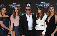 HOLLYWOOD, CA - April 19: Scarlet Rose Stallone, Sistine Rose Stallone, Sylvester Stallone, Jennifer Flavin, Sophia Rose Stallone, At Premiere Of Disney And Marvel's &quot;Guardians Of The Galaxy Vol. 2&quot; At The Dolby Theatre  In California on April 19, 2017. <br /> CAP/MPI/FS<br /> &copy;FS/MPI/Capital Pictures