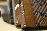 close up image of old books.