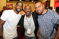 LOS ANGELES, CA - JUNE 24, 2016 Jackie Long, Stephen Hill & Albe attend the BET Awards Remote Radio Room Day 1 at The JW Marriot in Los Angeles, CA. Photo Credit: Walik Goshorn / Media Punch