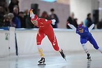 SCHAATSEN: DEVENTER: IJsbaan De Scheg, 26-10-12, IJsselcup, Pepijn van der Vinne, ©foto Martin de Jong