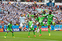 Marcos Rojo of Argentina scores a goal to make it 3-2
