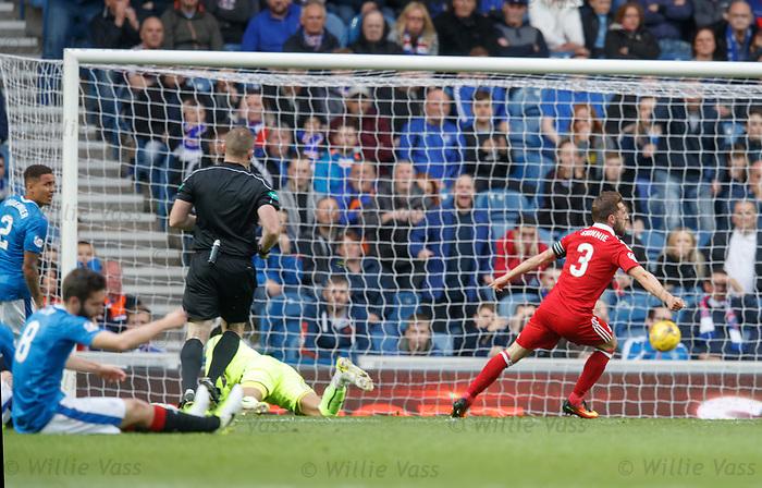 Graeme Shinnie scores for Aberdeen