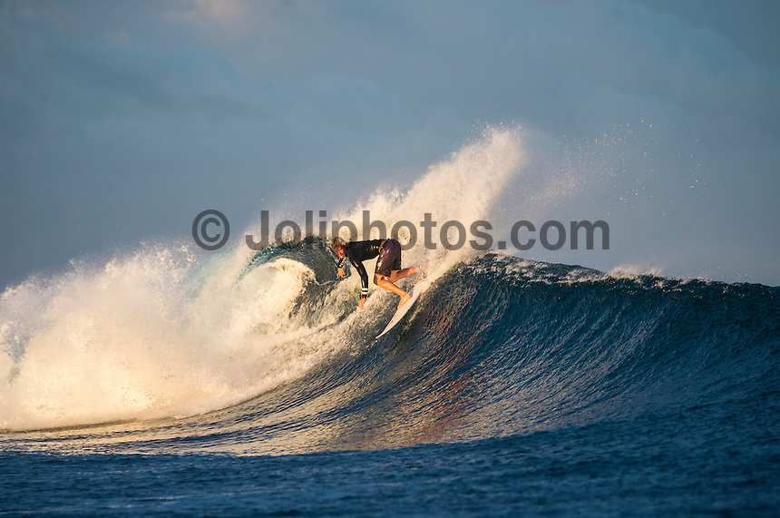 Namotu Island Resort, Namotu, Fiji. (Wednesday June 4, 2014) John John Florence (HAW) – Free surfing session went down this morning while organises debated a starting time for the Fiji Pro. Photo: joliphotos.com