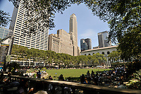 Bryant Park, privately-managed public park located Manhattan, New York City, New York, USA