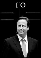 Prime Minister David Cameron on the steps of Number 10 Downing Street, Friday June 18, 2010. Photo By Andrew Parsons