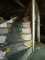 Starway of abandoned house, South Ronaldsay, Orkney, Scotland