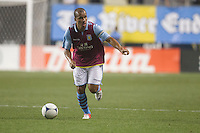 Gabriel Agbonlahor of Aston Villa during a match between Aston Villa FC and Philadelphia Union at PPL Park in Chester, Pennsylvania, USA on Wednesday July 18, 2012. (photo - Mat Boyle)