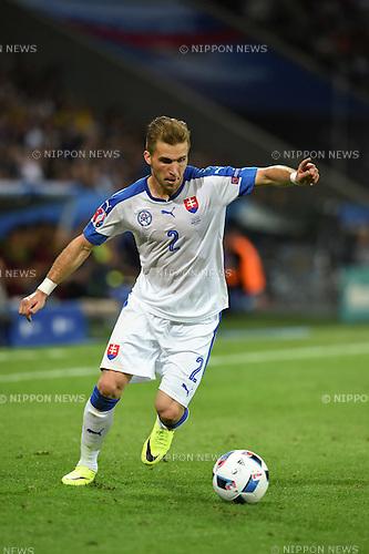 Peter Pekarik (Slovakia) ; <br /> June 15, 2016 - Football : Uefa Euro France 2016, Group B, Russia 1-2 Slovakia at Stade Pierre Mauroy, Lille Metropole, France.; ;(Photo by aicfoto/AFLO)
