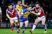 Picture by Alex Whitehead/SWpix.com - 17/03/2017 - Rugby League - Betfred Super League - Leeds Rhinos v Wakefield Trinity - Headingley Carnegie Stadium, Leeds, England - Leeds' Matt Parcell is tackled by Wakefield's Craig Huby.