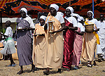 Women bring the Eucharist elements forward during an outdoor Mass in Christ the King Catholic parish in Malakal, Southern Sudan, on November 21, 2010. NOTE: In July 2011 Southern Sudan became the independent country of South Sudan.