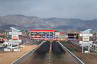 Feb 26, 2017; Chandler, AZ, USA; Overall view of Wild Horse Pass Motorsports Park during the NHRA Arizona Nationals. Mandatory Credit: Mark J. Rebilas-USA TODAY Sports