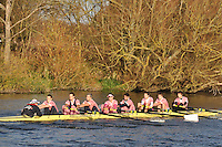 159 .PMB M1 .IM1.8+ .Pembroke Coll (O) BC. Wallingford Head of the River. Sunday 27 November 2011. 4250 metres upstream on the Thames from Moulsford railway bridge to Oxford University's Fleming Boathouse in Wallingford. Event run by Wallingford Rowing Club.