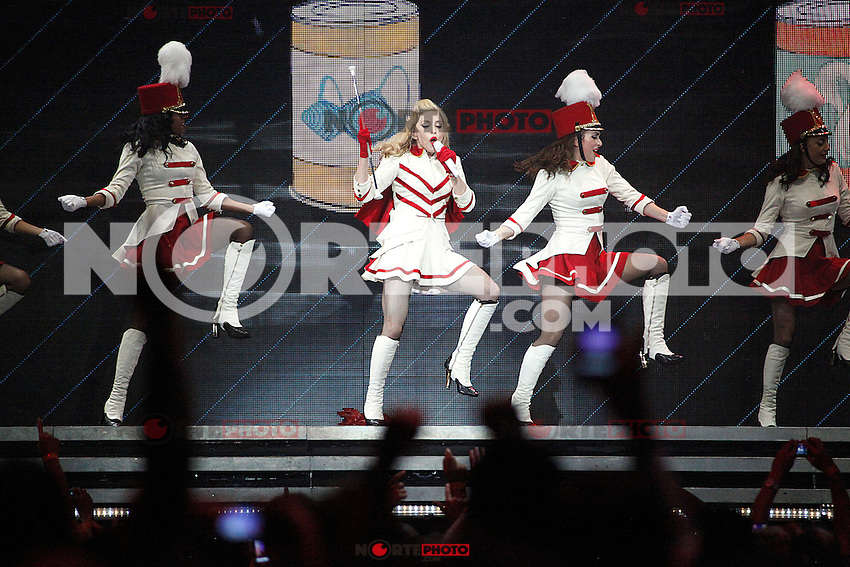 Madonna performing on the first night of her MDNA Tour at the Wells Fargo Center in Philadelphia, Pa on August 28, 2012  &copy; Star Shooter / MediaPunchInc /NortePhoto.com<br /> <br /> **CREDITO*OBLIGATORIO** <br /> *No*Venta*A*Terceros*<br /> *No*Sale*So*third*<br /> *** No*Se*Permite*Hacer*Archivo**<br /> *No*Sale*So*third*