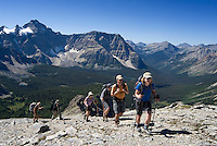 The Highline trail, Alberta and British Columbia, Canada, August 2008. From Elizabeth Lake a step trail leads up to The Nub. The Banff Highline trail can be hiked in 7 days and runs through Banff National park as well as Assiniboine Provincial park. Photo by Frits Meyst/Adventure4ever.com