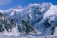 Celeno and Ocypete peaks, Twaharpies mountains, Twaharpies glacier, Wrangell St. Elias National Park, Alaska.