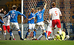 St Johnstone v Ross County...15.03.14    SPFL<br /> The ball ends up in the back of the net but was disallowed by the linesman<br /> Picture by Graeme Hart.<br /> Copyright Perthshire Picture Agency<br /> Tel: 01738 623350  Mobile: 07990 594431