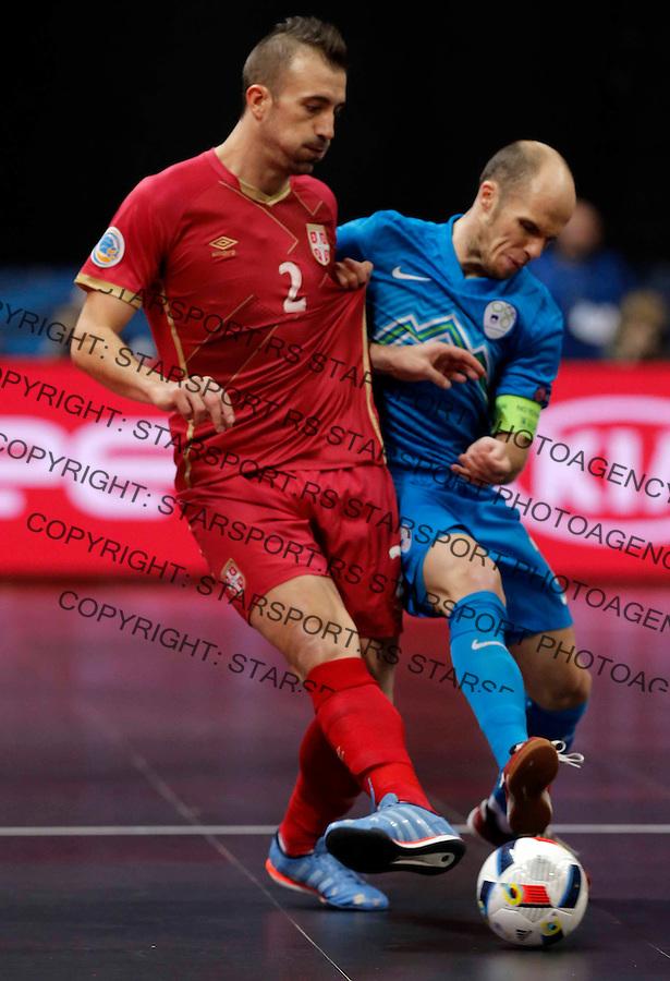 Marko Peric UEFA Euro 2016 Futsal Evropsko Prvenstvo, Srbija - Slovenija 2.2.1016. Februar 2. 2016. (credit image & photo: Pedja Milosavljevic / STARSPORT)