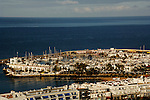 Boats at their moorings, Mogan harbour, Gran Canaria. Canary Islands, Spain