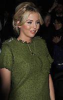 Lydia Bright spotted arriving at Somerset House, London on 15 February for the PPQ event which was part of London Fashion Week LFW  Autumn Winter 2013 Show. Paparazzi Photos