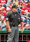 11 September 2016: MLB Umpire Chris Segal works home plate during a game between the Philadelphia Phillies and the Washington Nationals at Nationals Park in Washington, DC. The Nationals edged out the Phillies 3-2 to take the rubber match of their 3-game series. Mandatory Credit: Ed Wolfstein Photo *** RAW (NEF) Image File Available ***