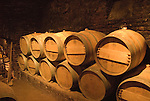 Chile Wine Country: Barrels in cellar at Concha y Toro Winery, Vina Concha y Toro, near Santiago..Photo #: ch469-32925.Photo copyright Lee Foster, 510-549-2202, www.fostertravel.com, lee@fostertravel.com.