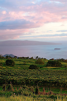 A view of southern Maui's coastline, Kaho'olawe and Molokini from Maui's Winery at Ulupalakua Ranch in Kula
