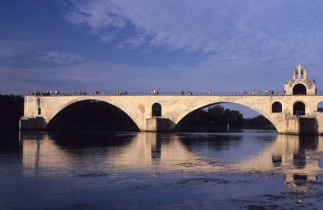 Vaucluse, France. Le Pont d'Avignon ( pont Saint-Benezet) ***  The Pont d'Avignon (Pont St-Benezet). France, Vaucluse.