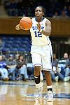 17 November 2012: Duke's Chelsea Gray. The Duke University Blue Devils played the Presbyterian College Blue Hose at Cameron Indoor Stadium in Durham, North Carolina in an NCAA Division I Women's Basketball game. Duke won the game 84-45.