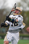 May 1, 2009:    #12 Grant Krebs of Notre Dame in action during the NCAA Lacrosse game between Notre Dame and Quinnipiac at GWLL Tournament in Birmingham, Michigan. (Credit Image: Rick Osentoski/Cal Sport Media)