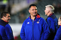 Bath Rugby Head Coach Tabai Matson looks on during the pre-match warm-up. European Rugby Challenge Cup match, between Bath Rugby and Cardiff Blues on December 15, 2016 at the Recreation Ground in Bath, England. Photo by: Patrick Khachfe / Onside Images