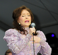 (Jackson,MS) Born a coal miners daughter, legendary country singer/songwriter Loretta Lynn, performs at the Mississippi State Fair Tuesday October 12, 2012. Loretta was joined on stage for two songs by another legend Chubby Checkers. Photo &copy;Suzi Altman