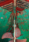 Rudder of a boat on dry dock, Essaouira, Morocco