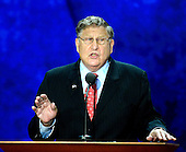 Former White House Chief of Staff John Sununu, places Mitt Romney's name in nomination at the 2012 Republican National Convention in Tampa Bay, Florida on Tuesday, August 28, 2012.  .Credit: Ron Sachs / CNP.(RESTRICTION: NO New York or New Jersey Newspapers or newspapers within a 75 mile radius of New York City)