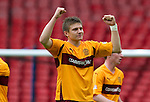 Motherwell v St Johnstone.....16.04.11  Scottish Cup Semi-Final.Shaun Hutchison celebrates.Picture by Graeme Hart..Copyright Perthshire Picture Agency.Tel: 01738 623350  Mobile: 07990 594431
