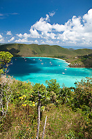 Maho and Francis Bay from America Hill.Virgin Islands National Park.St. John.U.S. Virgin Islands