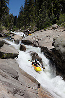 """Kayaker on Silver Creek 9"" - This kayaker was photographed on Silver Creek - South Fork, near Icehouse Reservoir, CA."
