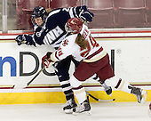 ?, Meagan Mangene (BC - 24) - The Boston College Eagles and the visiting University of New Hampshire Wildcats played to a scoreless tie in BC's senior game on Saturday, February 19, 2011, at Conte Forum in Chestnut Hill, Massachusetts.