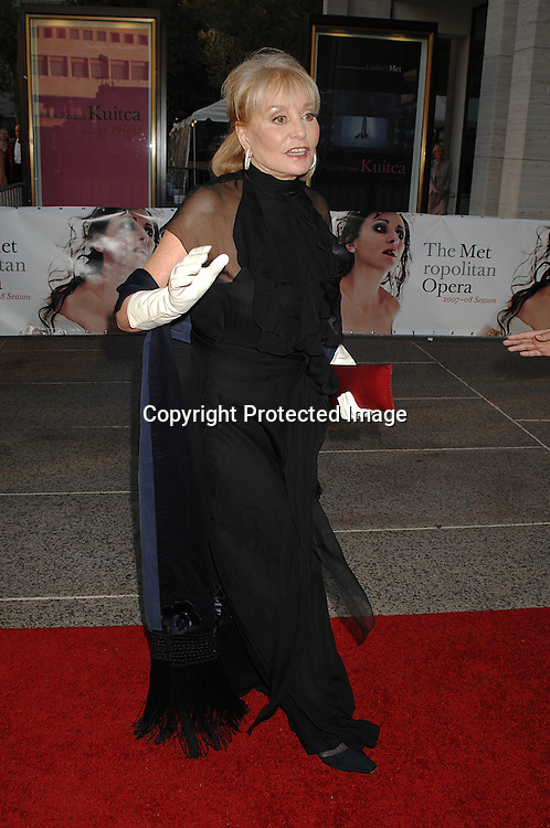 Barbara Walters in Ralph Lauren dress..arriving at The Metropolitan Opera 2007-08 Opening Night on September 24, 2007 at The Metropolitan Opera House..in Lincoln Center in New York City. ....photo by Robin Platzer, Twin Images ....212-935-0770