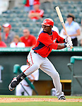 3 March 2011: Washington Nationals' outfielder Roger Bernadina in action during a Spring Training game against the St. Louis Cardinals at Roger Dean Stadium in Jupiter, Florida. The Cardinals defeated the Nationals 7-5 in Grapefruit League action. Mandatory Credit: Ed Wolfstein Photo