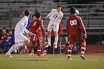 Oxford High's Baxter Elliott (17) vs. Neshoba Central in MHSAA playoff soccer action in Oxford, Miss. on Tuesday, January 22, 2013. Oxford won 3-1.