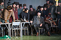 """London, UK. 30.09.2014. English National Opera's production of """"The Girl of the Golden West"""", by Giacomo Puccini, directed by Richard Jones, conducted by Keri-Lynn Wilson, opens at London Coliseum. Picture shows: Nicholas Masters (Ashby - seated). Photograph © Jane Hobson."""
