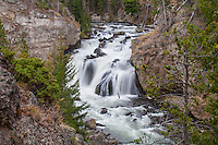 Firehole Falls in Yelowstone National Park