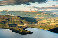 Evening over Lake Rotoiti with St. Arnaud in background, Nelson Lake National Park, South Island, New Zealand, NZ