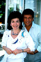 ANNETTE FUNICELLO AND FRANKIE AVALON 1987.PHOTO BY JONATHAN GREEN