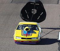Feb 24, 2017; Chandler, AZ, USA; NHRA top sportsman driver Richard Okerman during qualifying for the Arizona Nationals at Wild Horse Pass Motorsports Park. Mandatory Credit: Mark J. Rebilas-USA TODAY Sports